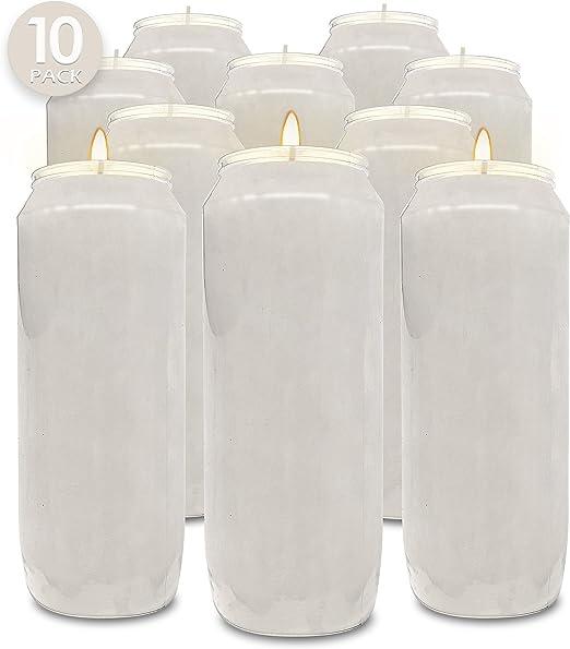 20x White Votive Wax Unscented Candle Tea light Soft Elegant Home Patio Lighting