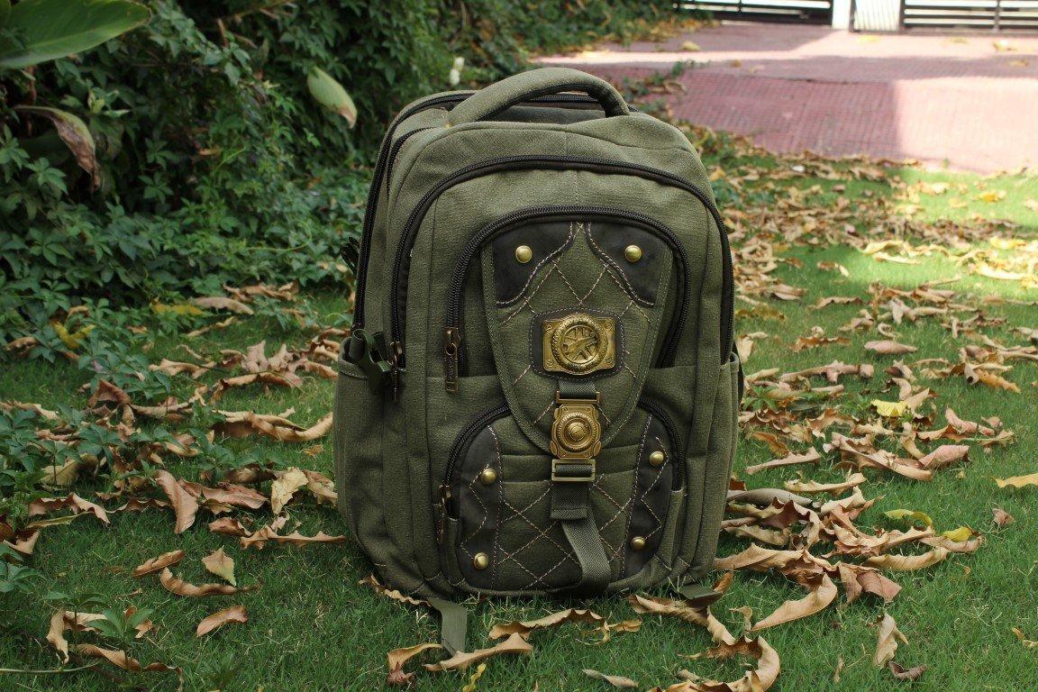 HandmadeCraft Outdoor Men WOMEN's Vintage Canvas Backpack Rucksack School Satchel Hiking Bag durable modeling