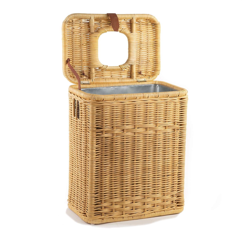 Amazon Com The Basket Lady Drop In Wicker Rectangular Trash Basket