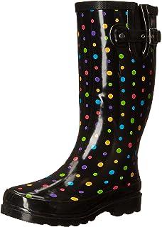 Amazon.com | Western Chief Women's Peacock Bright Rain Boot | Mid-Calf