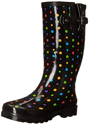 Western Chief Women's Ditsy Dots Rain Boot, Multi, 11 M US