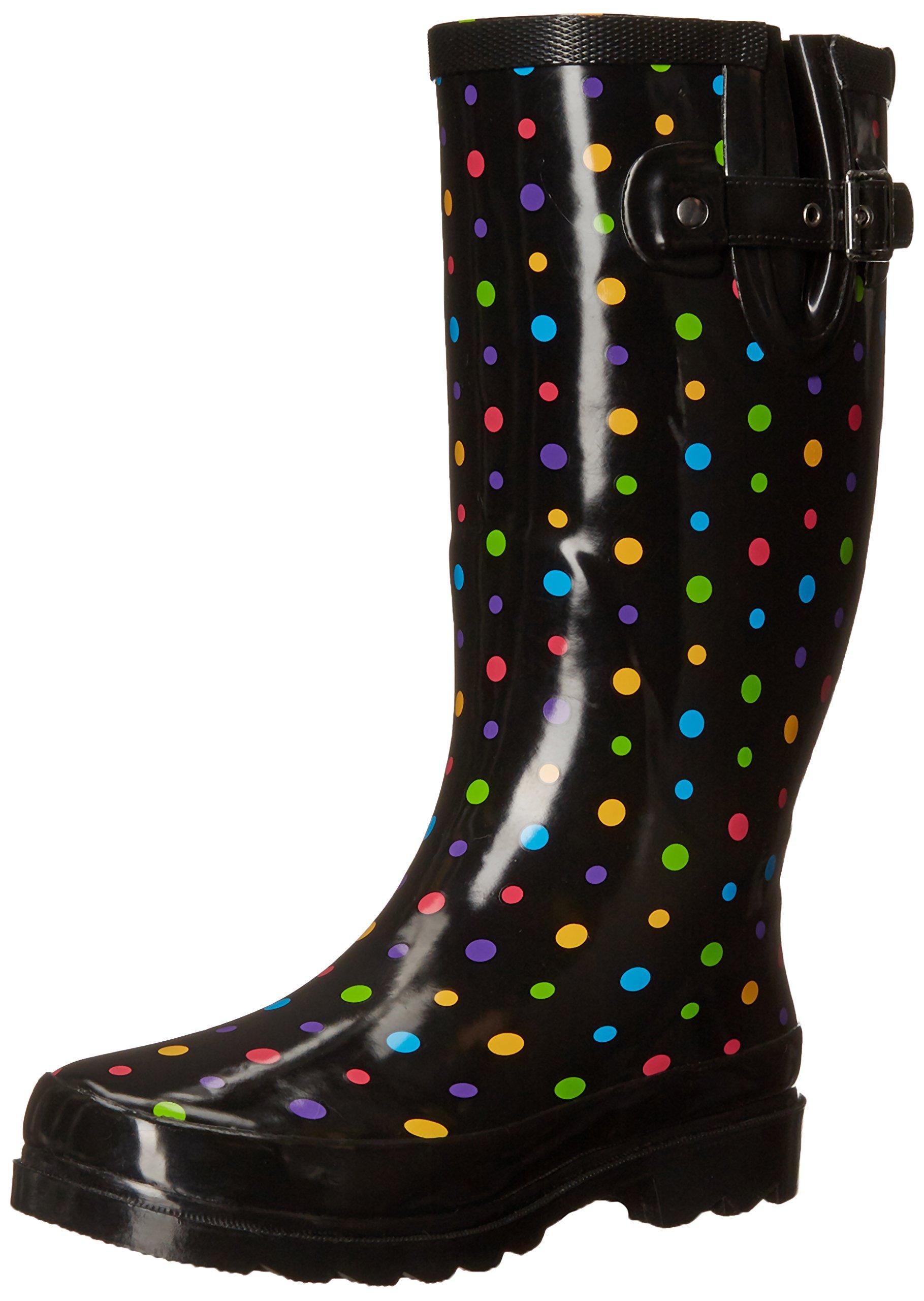 Western Chief Women's Ditsy Dot Rain Boot,Multi,7 M US