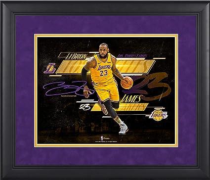 the latest cda8d de5d5 LeBron James Los Angeles Lakers Framed 11