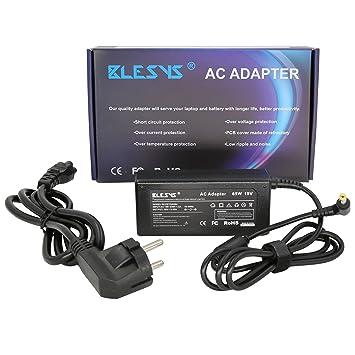 BLESYS - 19V/3.42A Cargador Adaptador Fuente de alimentación Universal para Ordenador Portátil para Acer Aspire ...