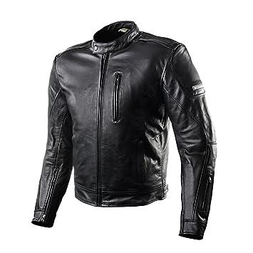 Shima HUNTER PLUS 2018, Verano Protector Ventilador Chaqueta de moto de cuero vintage retro para hombre (S-XXL) (S, Black): Amazon.es: Coche y moto