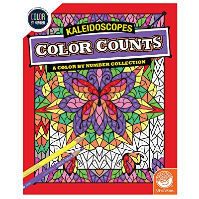 MindWare Color by Number Color Counts (Kaleidoscopes): Toys & Games