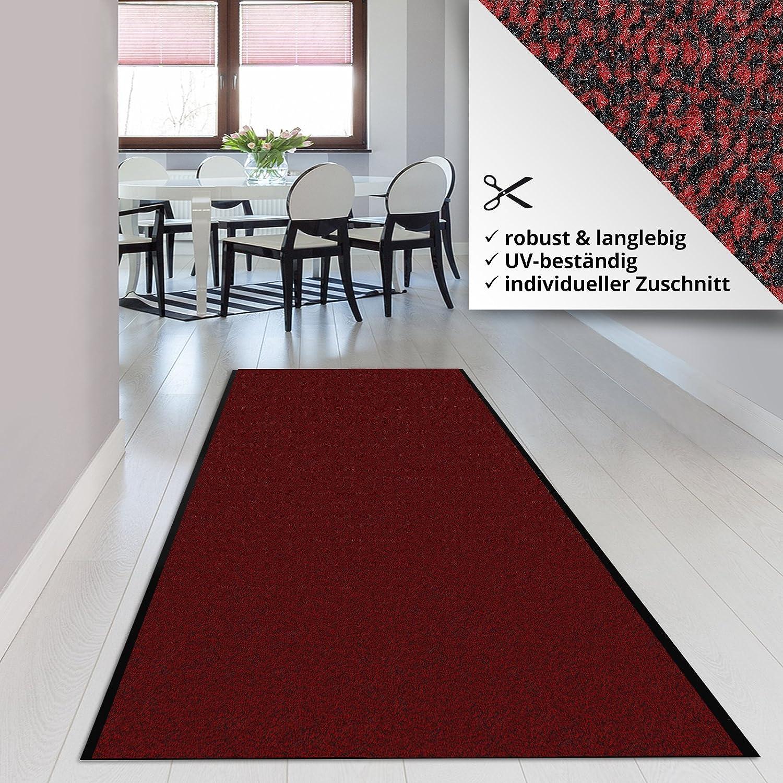 Schmutzfangmatte Schmutzfangläufer SKY     rot   ideale Größe wählbar, Meterware (450x200cm) bf29a1