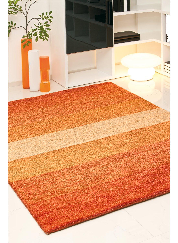 un amour von teppich 13805 baku stripe teppich moderne wolle terra braun braun 250 x 300 cm. Black Bedroom Furniture Sets. Home Design Ideas