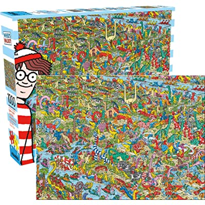 Where's Waldo Dinosaurs 1,000pc Puzzle: Toys & Games