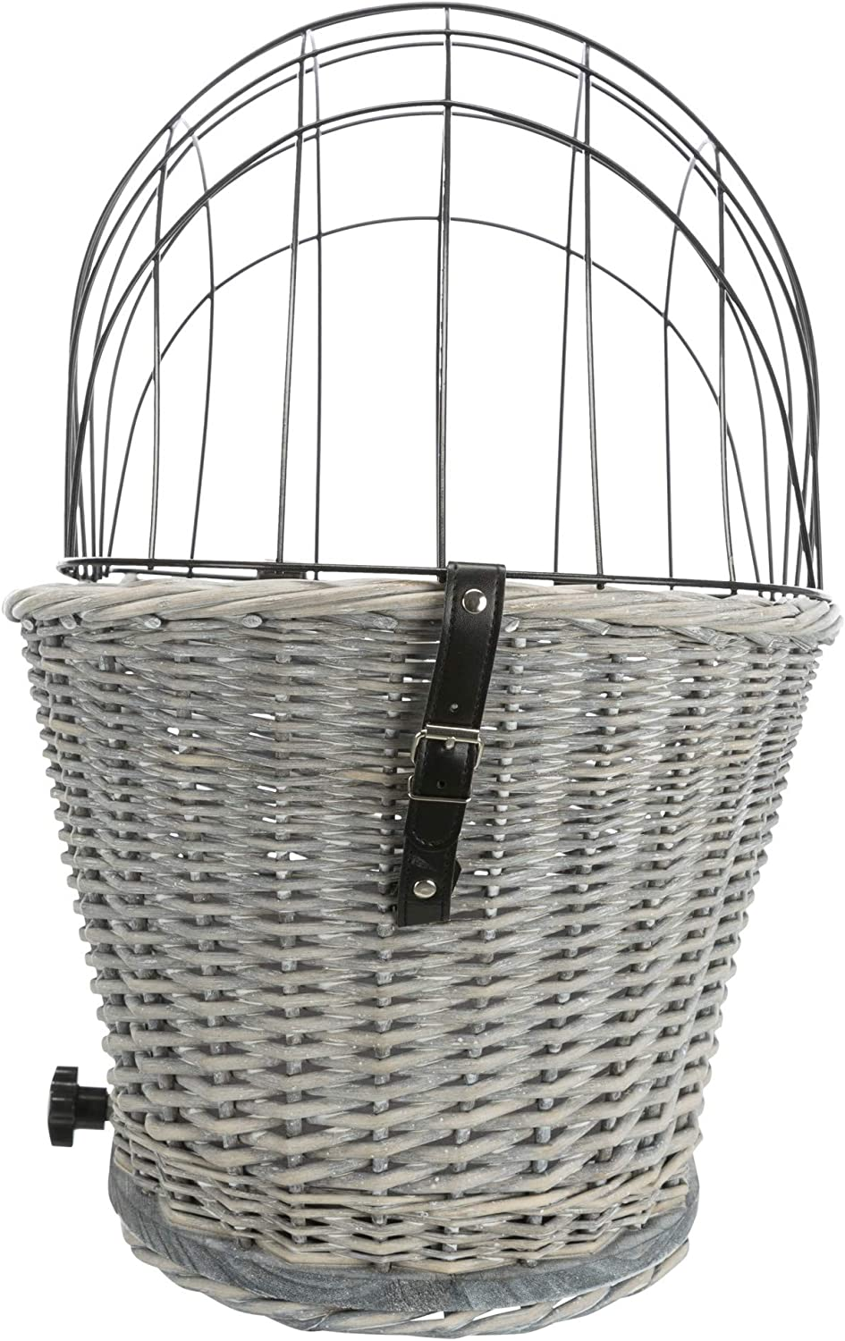 2.259 kg Grey Trixie Bicycle Basket With Lattice for Rack Willow//Metal 35 x 49 x 55 cm