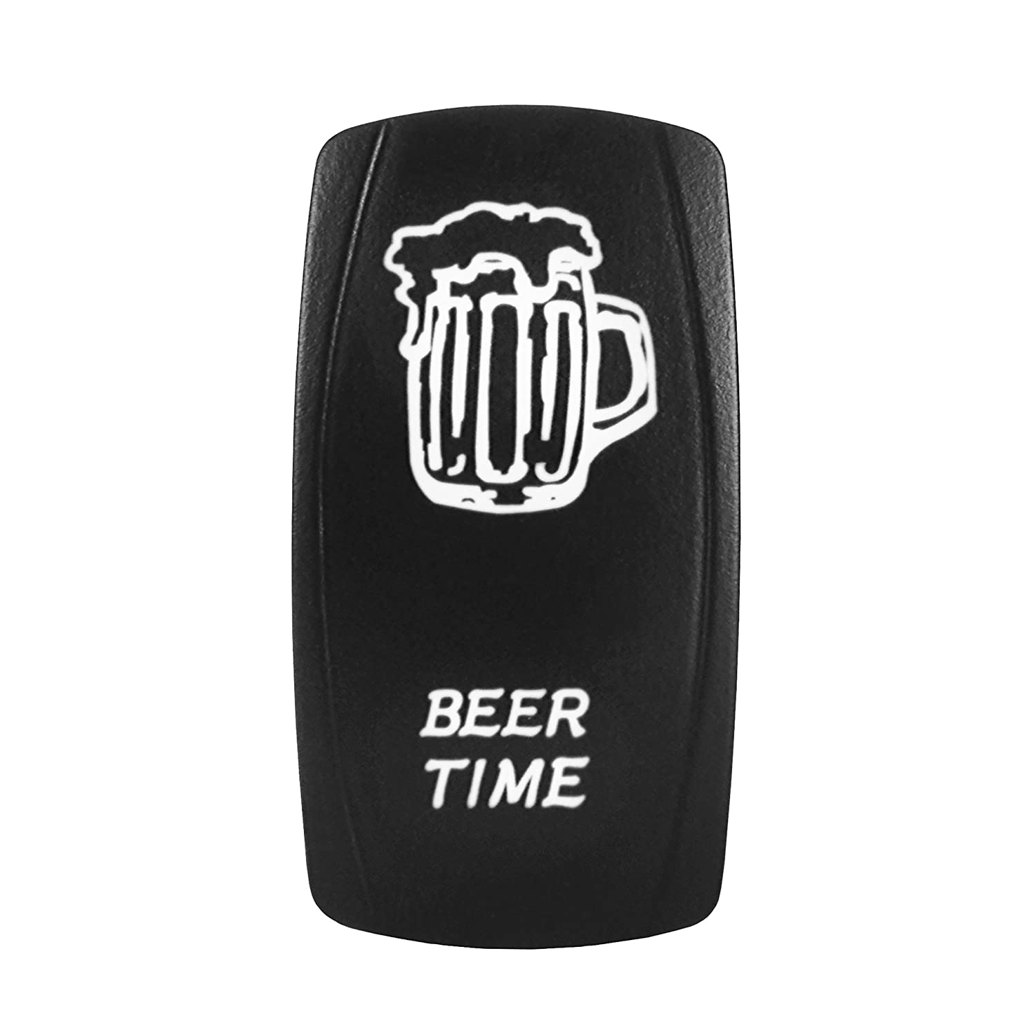 Bright Light Powersports BEER TIME- Universal On//Off Laser Rocker Switch RED 12 Volt