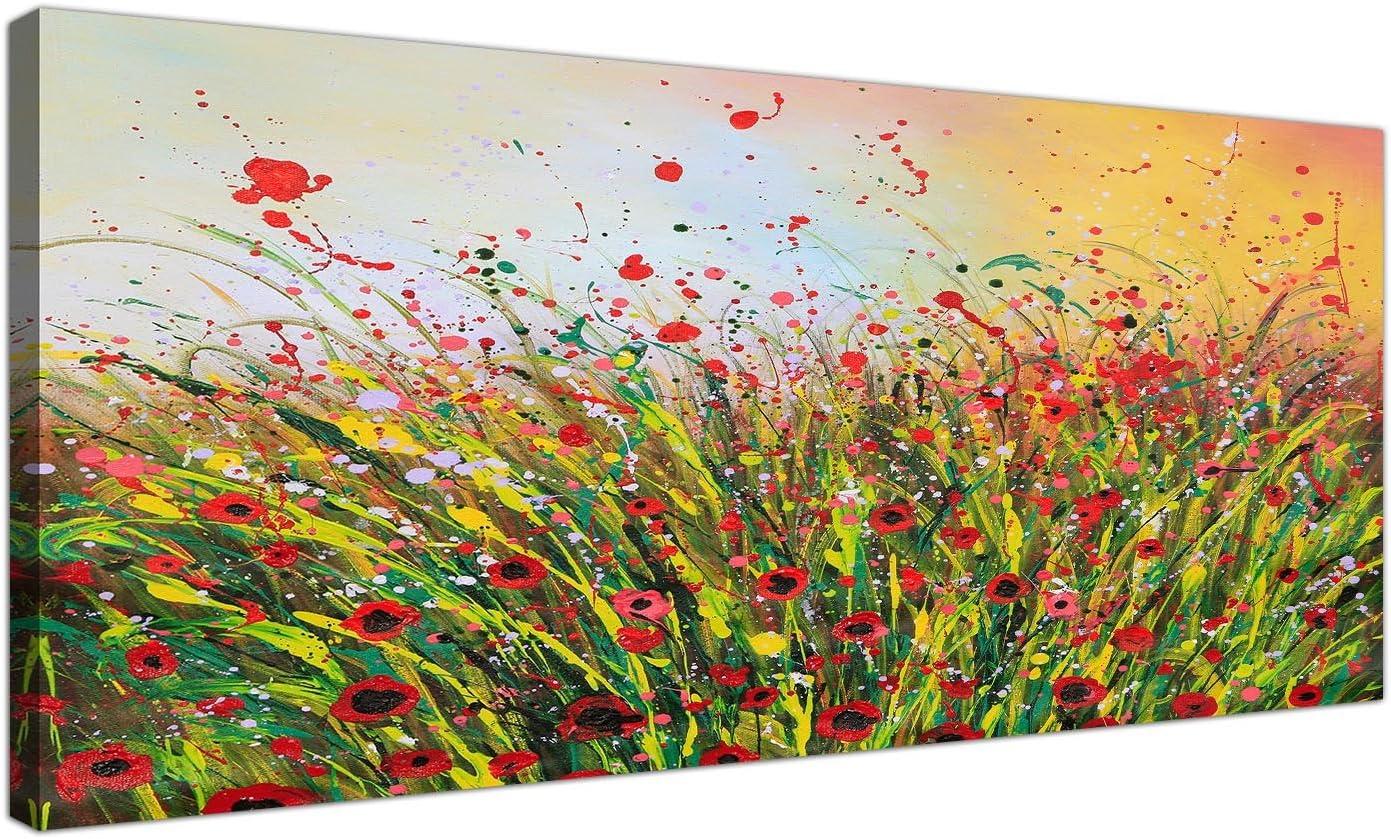 Wallfillers 1262 - Lienzo decorativo, diseño abstracto de flores
