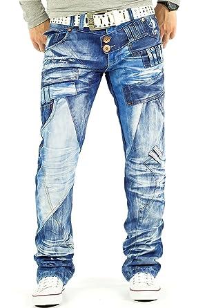 76dd118f974c Kosmo Lupo Herren Jeans Freizeithose Denim Cargo Designer Mens Pants  Straight Cut