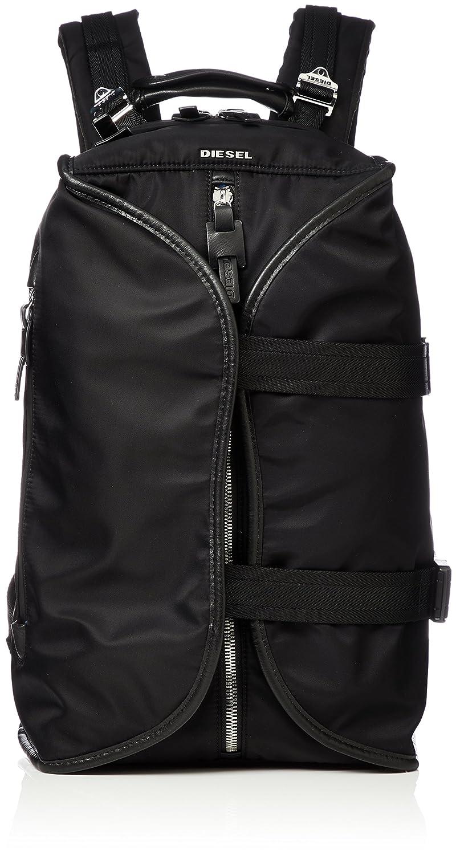 (ディーゼル) DIESEL メンズ ナイロン デザイン バックパック KEEP THE FLAW F-LAW BACK backpack X05514PR886 B078XXGSH6ブラック UNI (Free)
