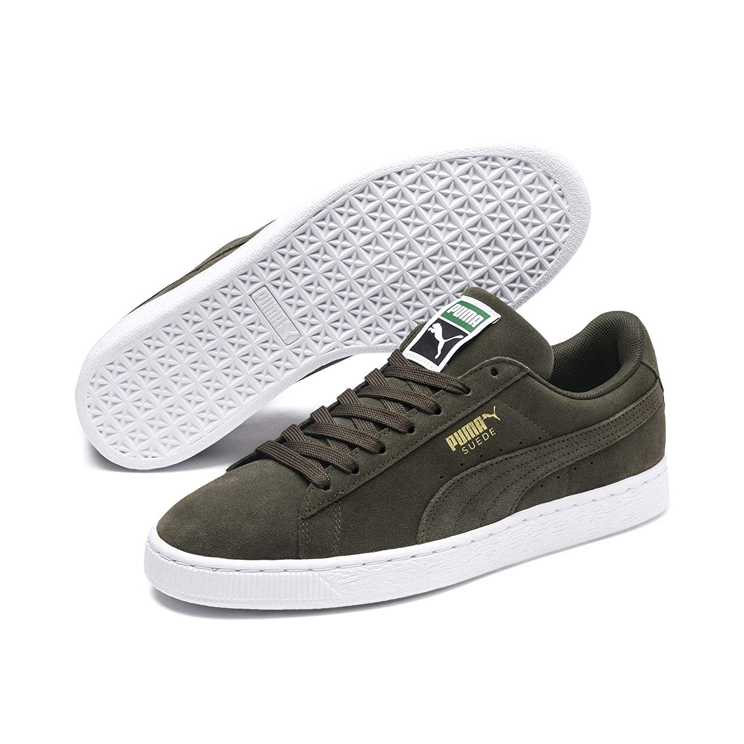 Puma Suede Classic +, Men's Low Top Sneakers, Grey (forest Night white 65), 13 UK (48.5 EU)