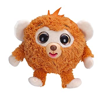 Zigamazoo Ojos brillantes, mono de peluche, color naranja (Famosa 700013220)