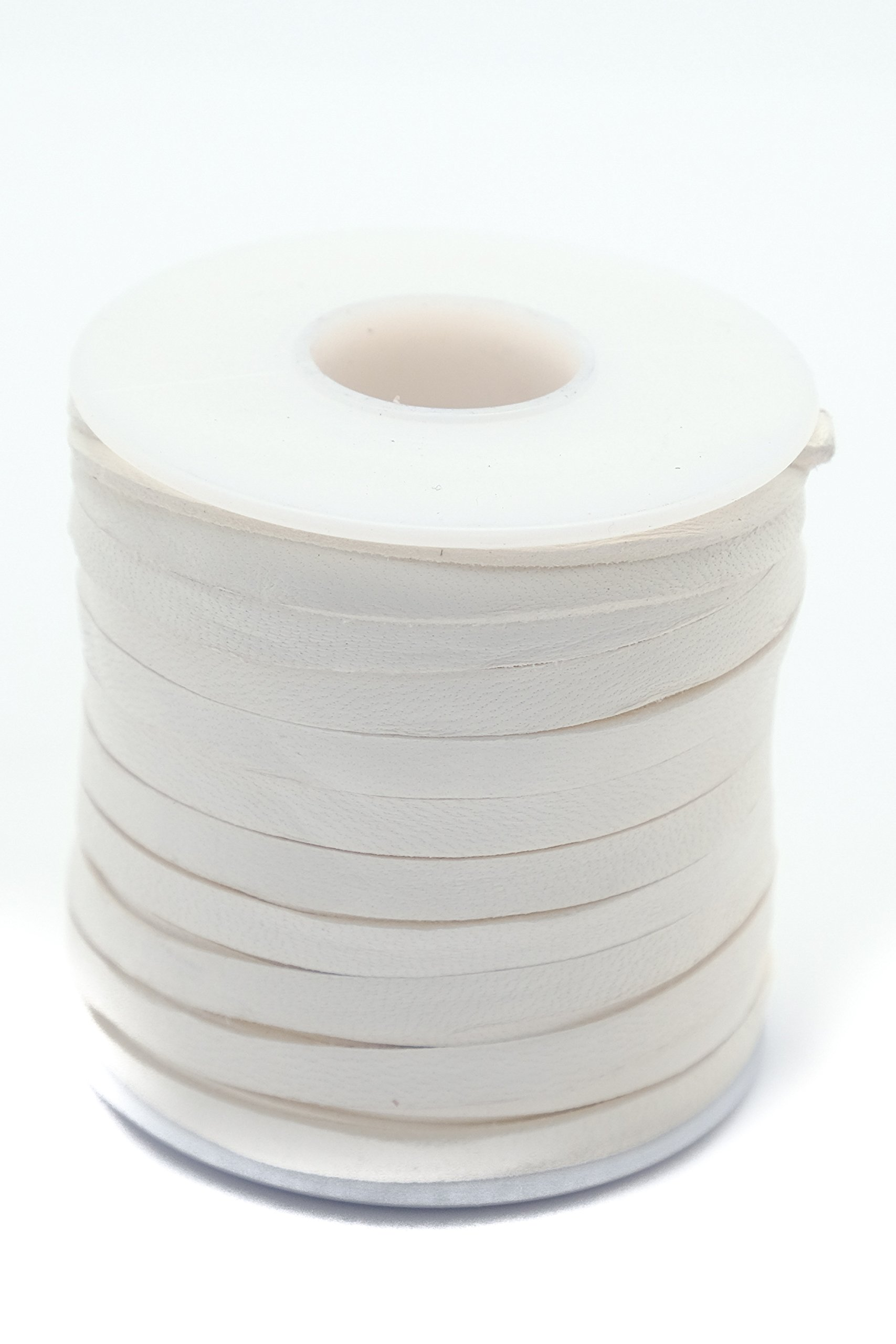 Springfield Leather Company 3/16''x50ft White Colored Leather Deer Lace