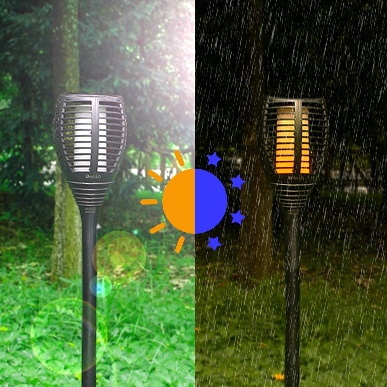 OxyLED OxyLED OxyLED Solar Garten-Fackeln Beleuchtung,6 Stück Solarleuchte Gartenleuchte mit realistischen tanzenden Flammen,IP65 wasserdichte Garten Dekorationen im Freien Landschaft Pathway [Energieklasse A++] d471c6