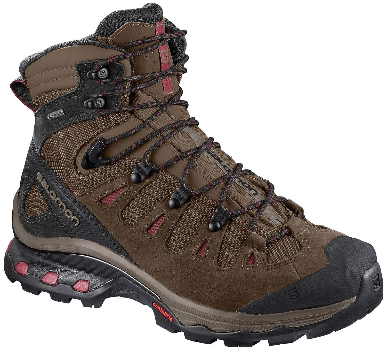 Image of Backpacking Boots Salomon Women's Quest 4D 3 GTX Backpacking Boots, Teak/Teak/Tibetan Red, 11