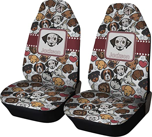 Amazon RNK Shops Dog Faces Car Seat Covers Set Of Two Personalized Automotive