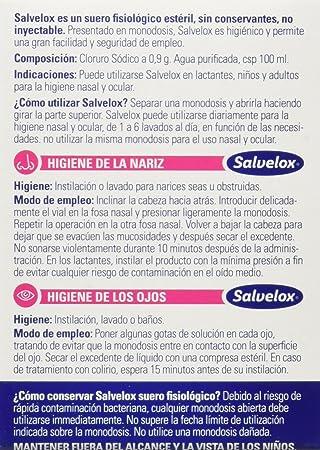 Salvelox Suero Fisiológico - 240 Unidades: Amazon.es: Salud y cuidado personal