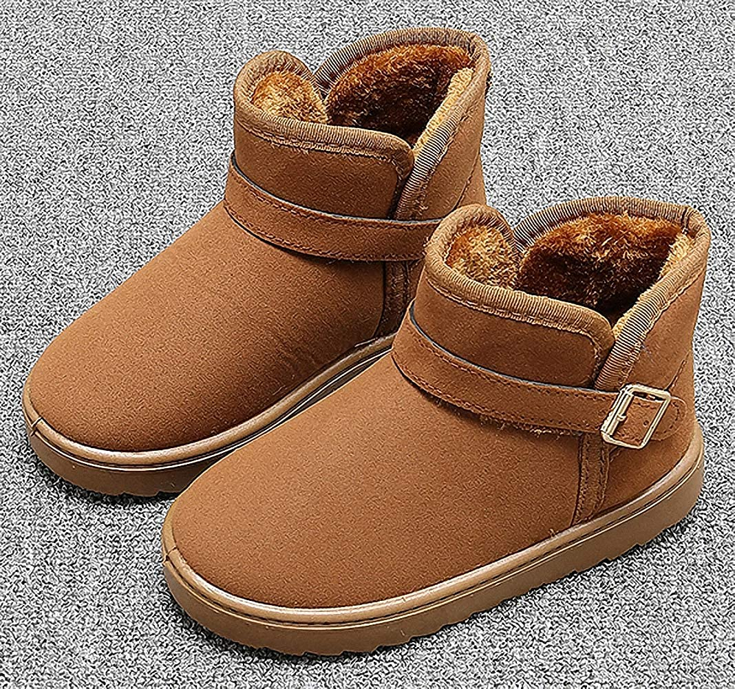 ZHENZHONG Kids Faux Fur Ankle Snow Boots Booties for Toddler Little Big Kids