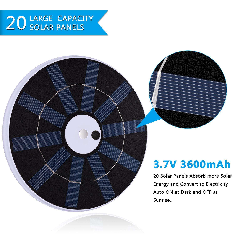 Solar Flag Pole Lights 32 LED Solar Powered Flagpole Lighting Night Light Kit for 15 to 25 Ft Top (Built-in Li-ion Battery) by Feelle (Image #3)