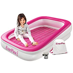 EnerPlex Kids Inflatable Toddler Travel Bed