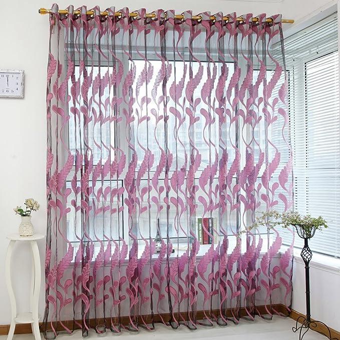 Mode Style Schmetterling Blumen Tüll Fenstervorhang Voile Drape Schal Valances