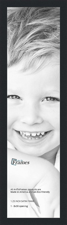 Amazon Arttoframes 8x30 Inch Satin Black Picture Frame