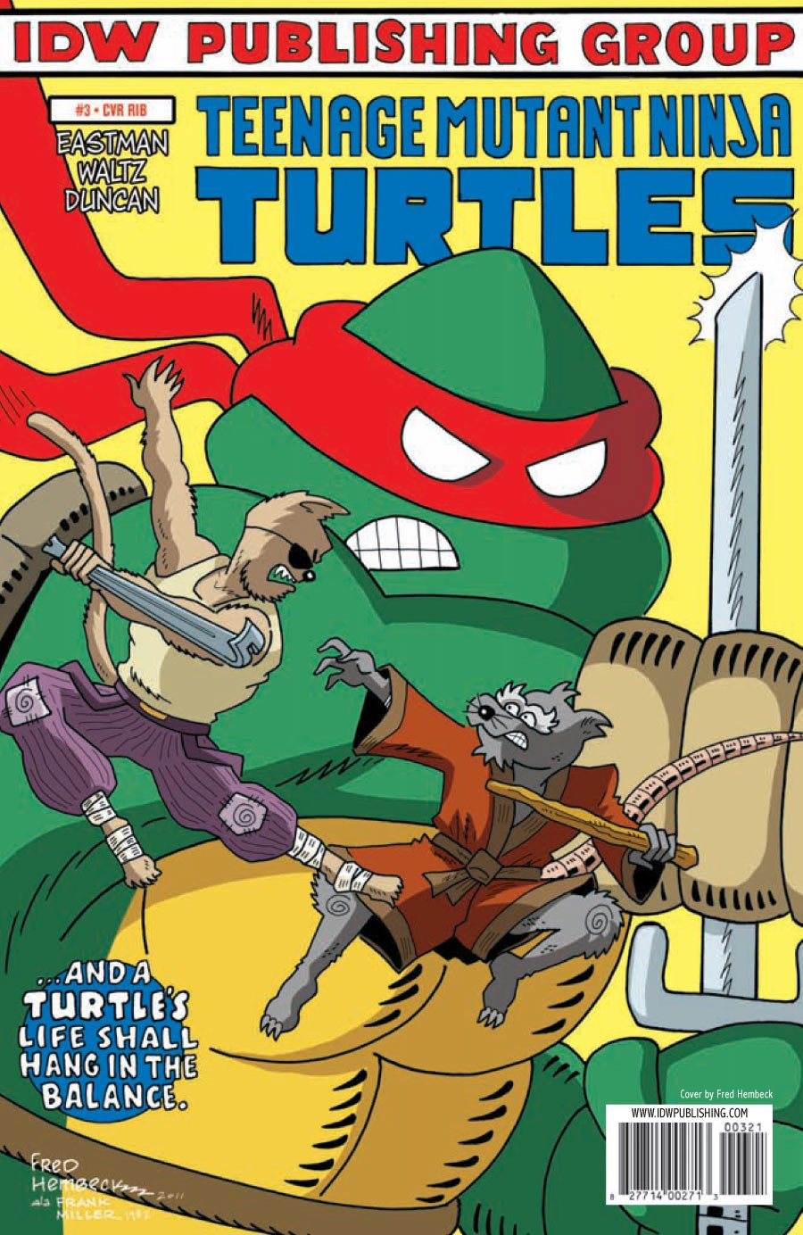Teenage Mutant Ninja Turtles #3 Incentive Fred Hembeck Spoof ...