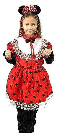 pequeños monelli Traje Minnie niña 7 8 años Vestido Minnie Mouse ...