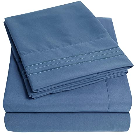 03f86dd2ba50 Amazon.com  1500 Supreme Collection Extra Soft Queen Sheets Set ...