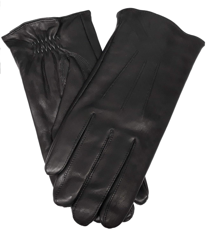 Black Large Saddlebred Mens Genuine Leather Gloves