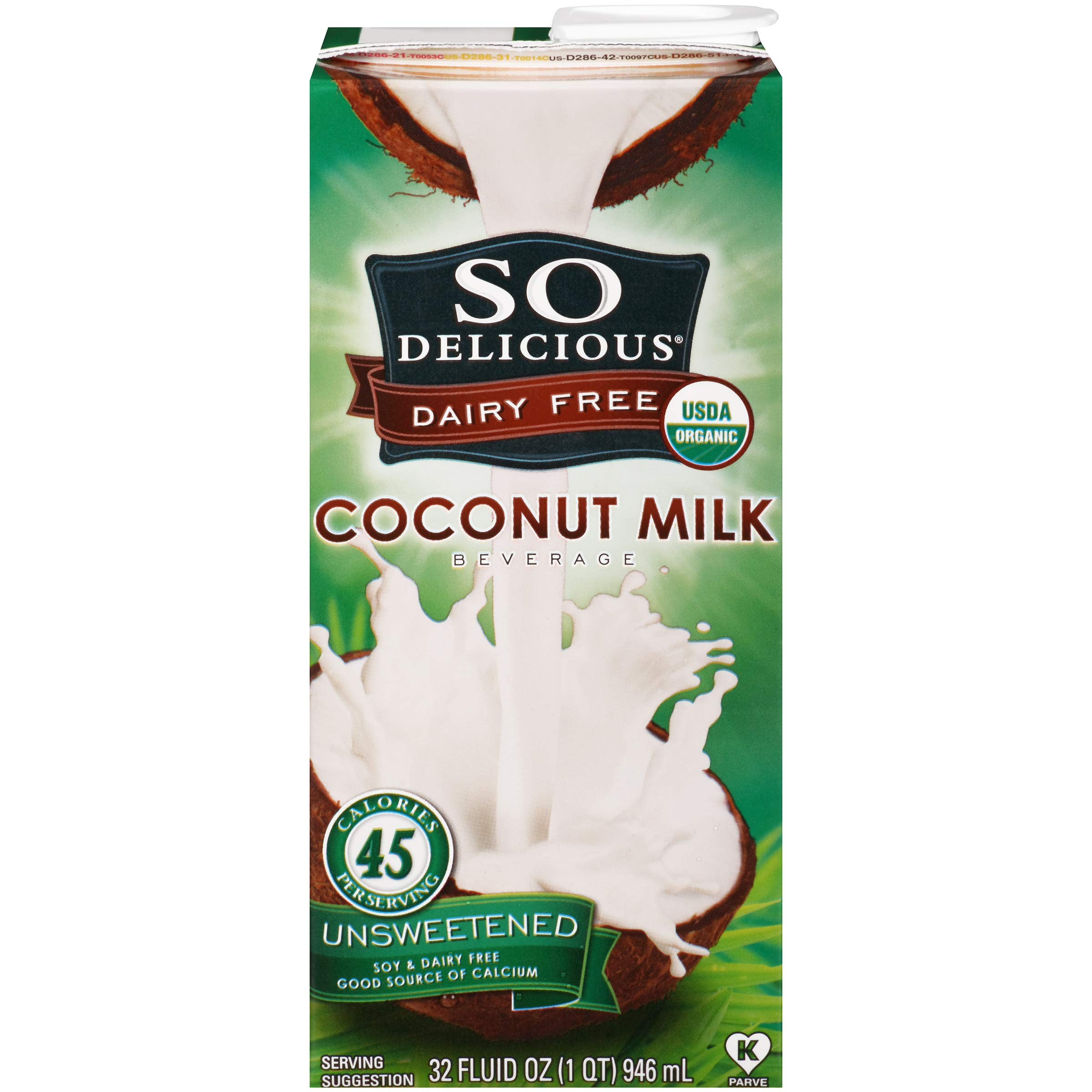So Delicious Dairy Free Coconutmilk Beverage, Unsweetened, 32 fl oz