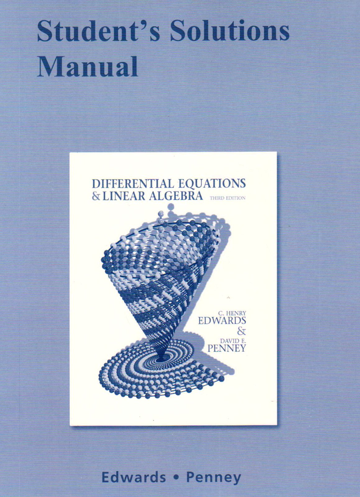 Student Solutions Manual for Differential Equations and Linear Algebra:  Amazon.co.uk: C. Henry Edwards, David E. Penney: 9780136054276: Books