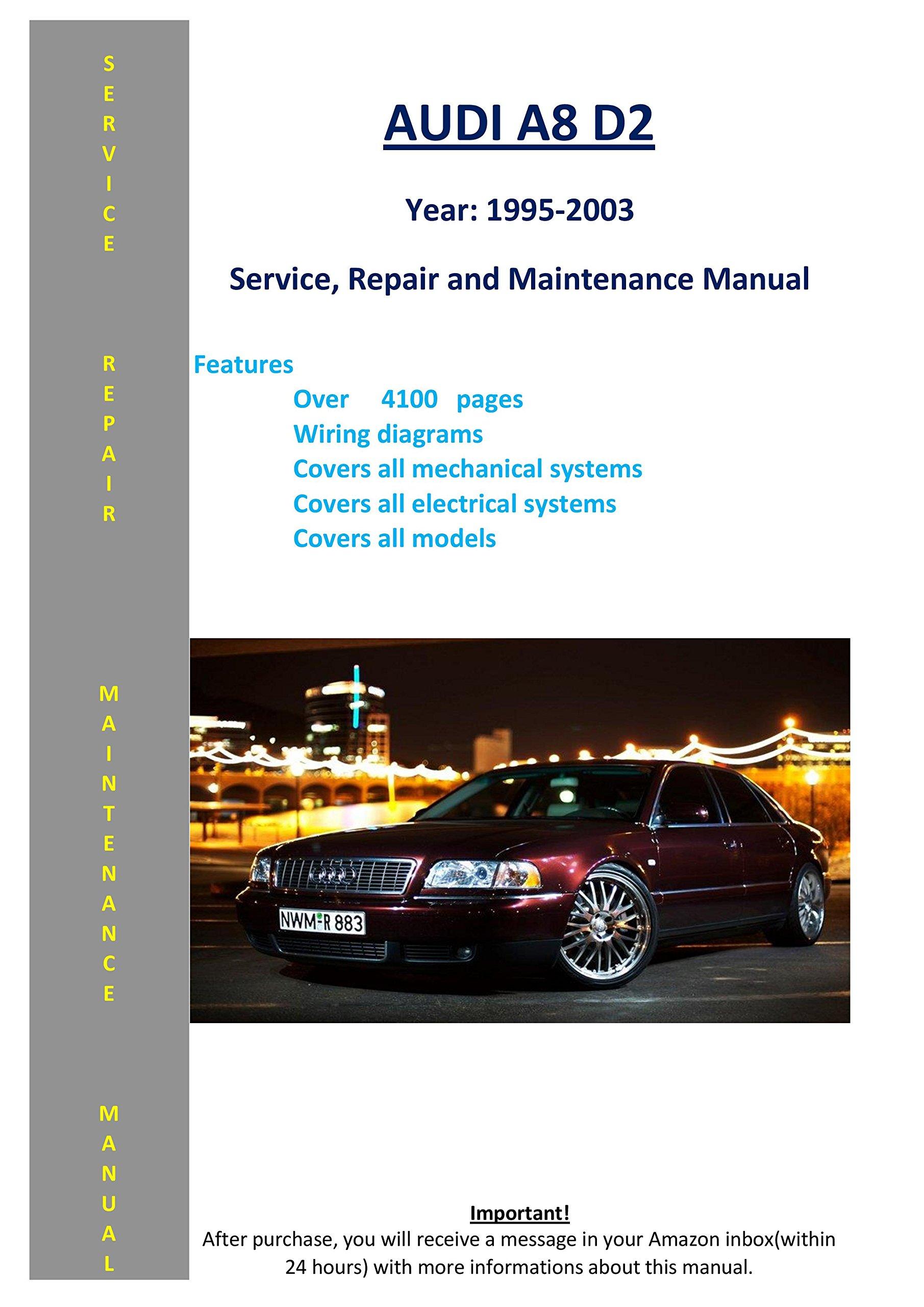 audi a8 d2 from 1995-2003 service repair maintenance manual map – 2005