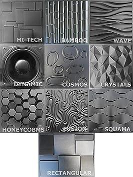 KIT 10 moldes de plástico para paneles de pared molde de pared para yeso o hormigón: Amazon.es: Bricolaje y herramientas