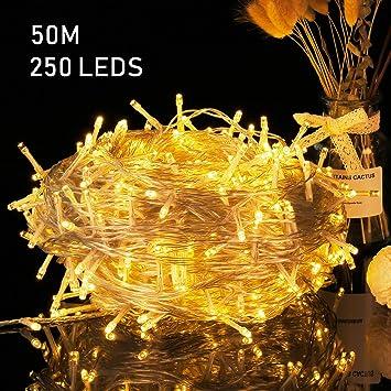 Avoalre Guirnaldas Luces LED Cadena de Luces 50M 250 LED Luces de ...