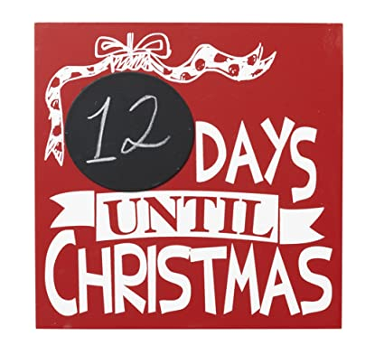 How Many Days Until Christmas Countdown.Amazon Com Red Wooden Days Until Christmas Countdown