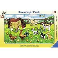 Ravensburger 60467 Puz Çayırda Hayvanlar, 15 Parça