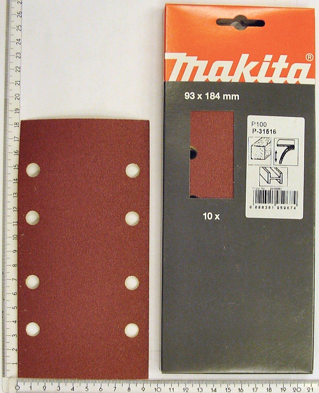 93 x 230 mm Makita P-36099 50 piezas k120 Papel de lija