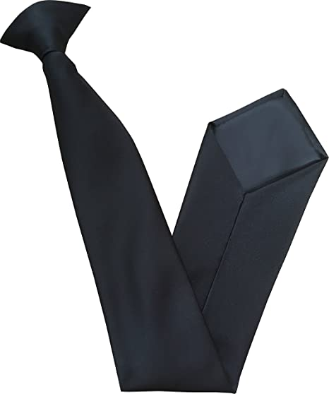 2c56da7d1b54 Men's Satin Clip On Ties (Black) at Amazon Men's Clothing store: