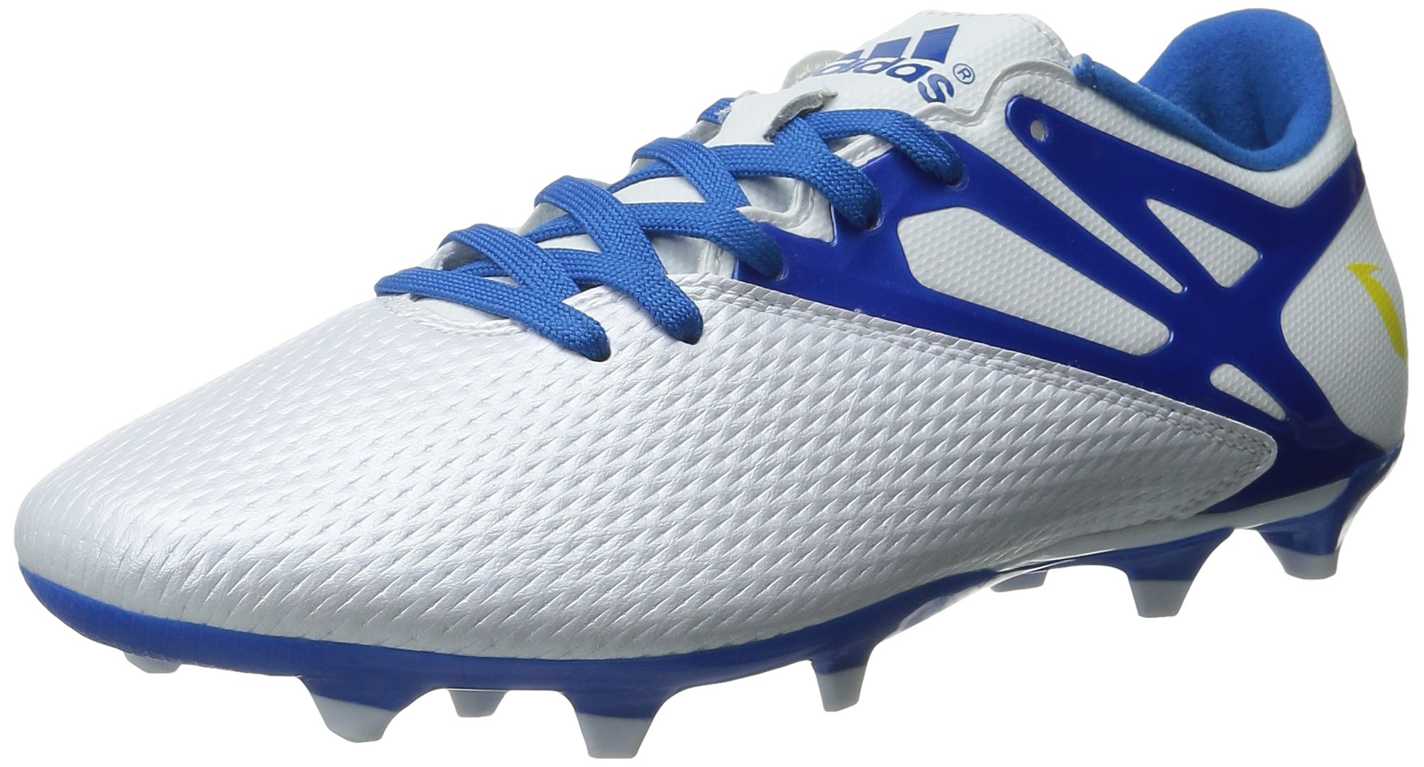 adidas Performance Men's Messi 15.3 FGAG Soccer Shoe, WhitePrime Blue S12Core Black, 10.5 M US