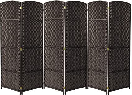 Surprising Sorbus Room Divider Privacy Screen Foldable Panel Partition Wall Divider Room Dividers And Folding Privacy Screens Diamond Double Weaved 6 Panel Home Interior And Landscaping Fragforummapetitesourisinfo