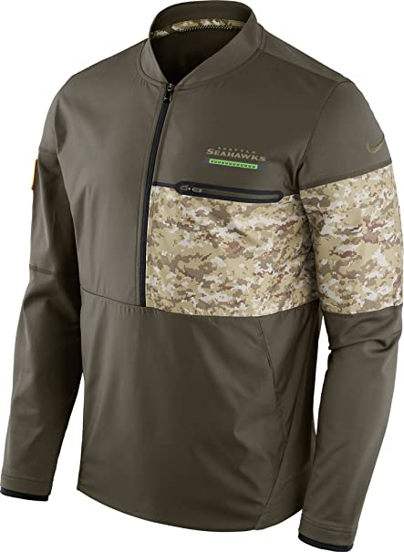 Image Unavailable. Image not available for. Color  Nike Seattle Seahawks  Salute To Service Sideline Half-Zip Jacket ... bbe4e5c1b