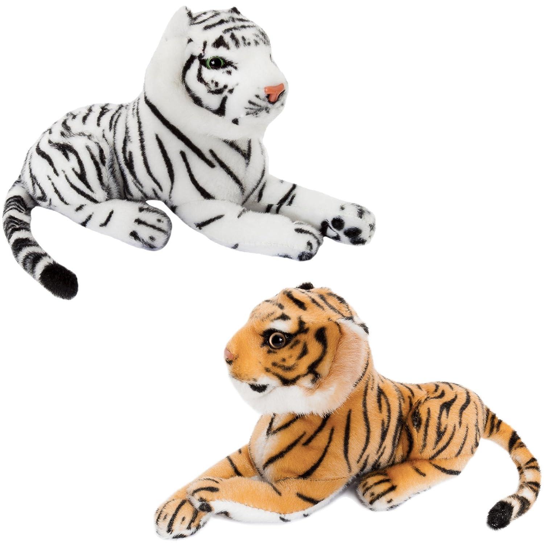 BRUBAKER 2 Peluche Tigre de Color Marrón en Blanco de 25 cm ...