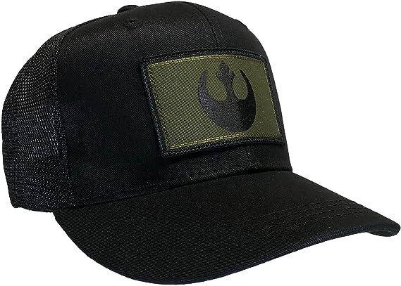 The Resistance Rebel Alliance Logo in BLACK Adult Baseball Hat OSFA /& FlexFit Star Wars