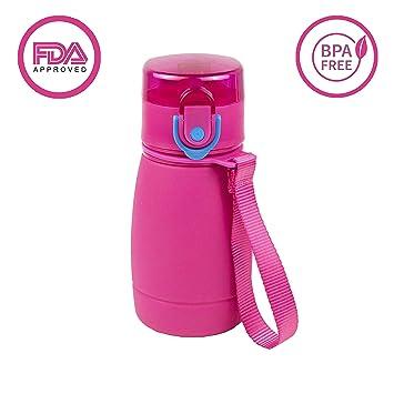 9917105bd0 Cheeky Chimp Water Bottle Flask, Leak Proof Squeeze Drinks Straw Bottle,  BPA Free Reusable