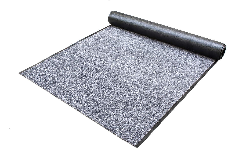 Schmutzfangläufer Schmutzfangteppich WASH and CLEAN – Anthrazit 0,90m x 2,00m - waschbar, rutschfest, wasserabsorbierend , UV-Beständig - Fußmatte für Innen und Außen, Küchenläufer, Sauberlauf